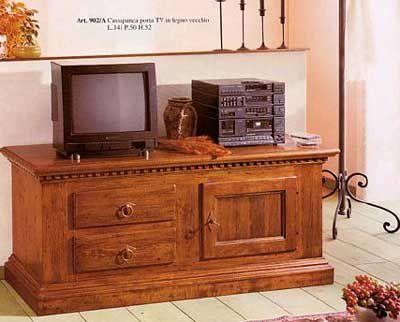 cassapanca porta tv 1por 2ca arte povera cod 10100