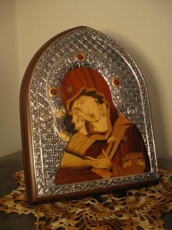 Icona da tavolo in argento