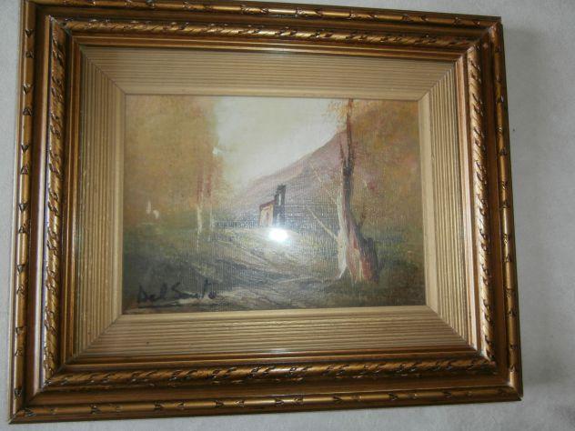 Quadro olio su tela del pittore DEL SANTO