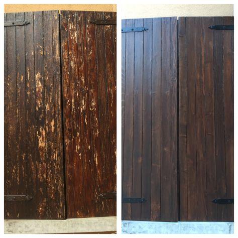 verniciatura restauro infissi finestre scuri legno ferro - Foto 4