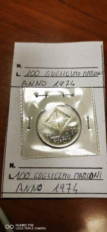 100 LIRE GUGLIELMO MARCONI ANNO 1974