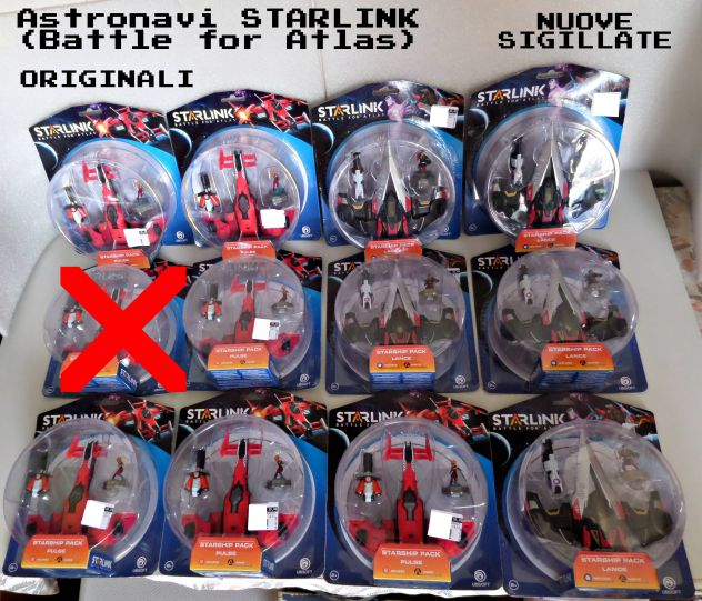 Astronavi STARLINK ( STARSHIP PACK ) Modelli: LANCE e PULSE , NUOVE, SIGILLATE