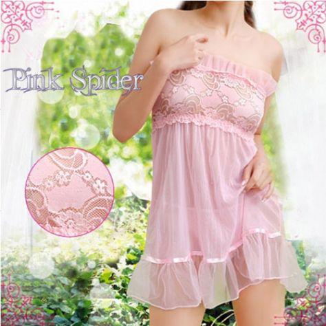 Lingerie veste rosa vestito biancheria intimo donna babydoll