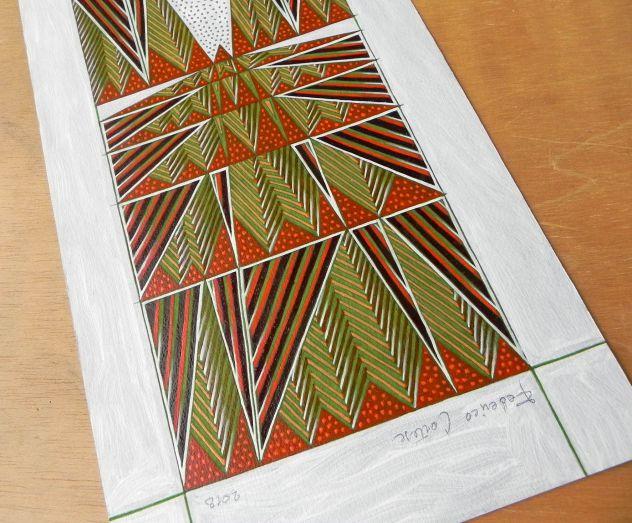 Dipinto ad olio su carta, astratto - Foto 4
