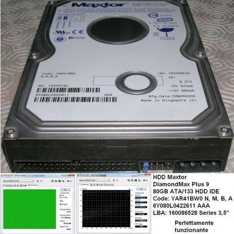 HDD Maxtor 9 80GB ATA/133 HDD DiamondMax Plus Code: YAR41BW0  N, M, B,