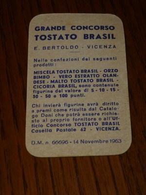 7 figurine punti tostato brasil 1963