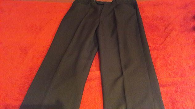 Pantaloni taglio classico neri Tg M (48)