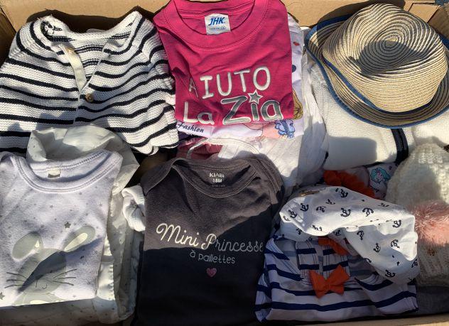 Abbigliamento/vestiti lotto stock bimba 0-2 anni