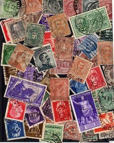 Lotto n. 100 francobolli usati di Italia Regno.