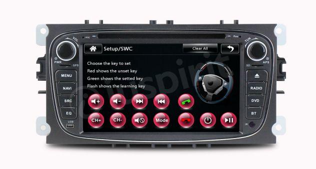 GPS DVD BT autoradio 2 DIN navigatore Ford Focus Mondeo C-Max Galaxy - Foto 9