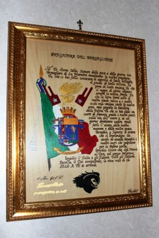 QUADRO CARABINIERI CON PREGHIERA, VIRGO FIDELIS - Foto 3