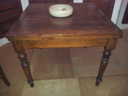 Tavolo Quadrato Antico Allungabile.Tavoli Antichi 800 Tavolino Da Gioco In Noce Epoca Xix Secolo