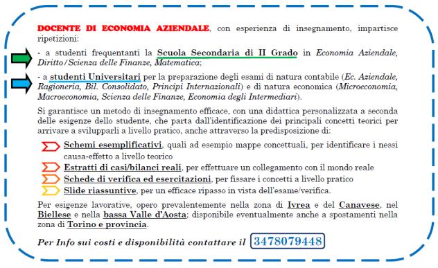 Economia Aziendale, Diritto e Matematica (Ripetizioni)