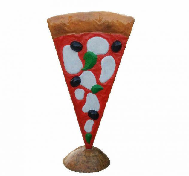 Insegna PIZZA in vetroresina (fiberglass) per esterno Pizza a totem