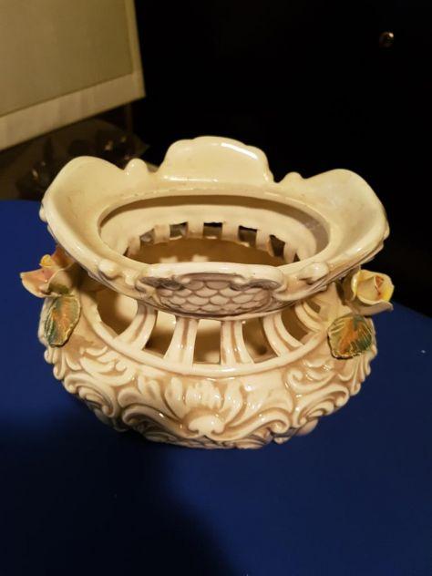 Vecchio vaso Centrotavola ceramica porcellana capodimonte