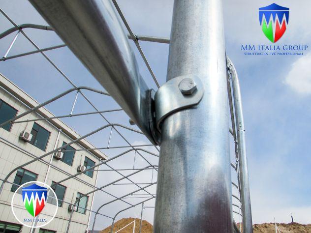Tunnel Tendoni Professionli 9 x 20 x 5,50 Pvc Ignifugo MM Italia - Foto 4