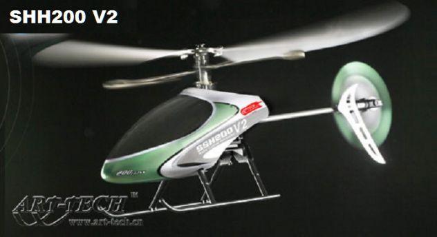 elicottero SSH2-V2+ Radiocomando  7ch +ricevitore +cavo simulatore volo PC