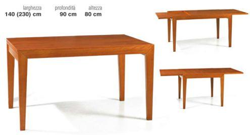 Tavolo moderno in faggio (140x90) - Nuovo