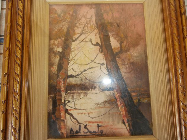 Vecchio quadro ad olio del pittore DEL SANTO