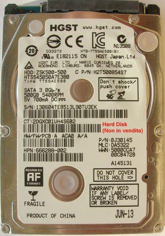 PCB Hard Disk HGST Z5K500-500 2,5'' 220 0A90351 01 Dati sulla scheda logica (in - Foto 3