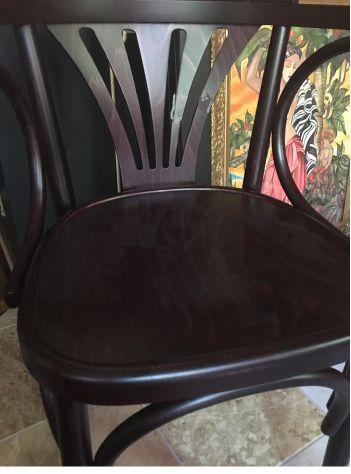 Sedie in legno massello cod k nuove con braccioli, ideali per arredo pub - Foto 2