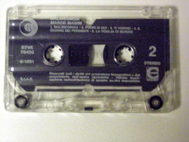 Musicassetta originale del 1991-Marco Masini-MALINCONOIA - Foto 3