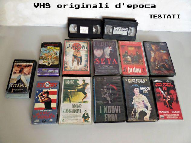 VHS vari  lotto misto  Originali d'epoca. TESTATI (INTERO LOTTO)