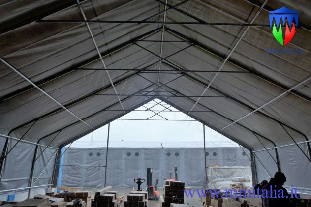 Tendostruttura Tensostruttura 10 x 40 x 5,70 mt, gallerie , tunnel Autostrade - Foto 4