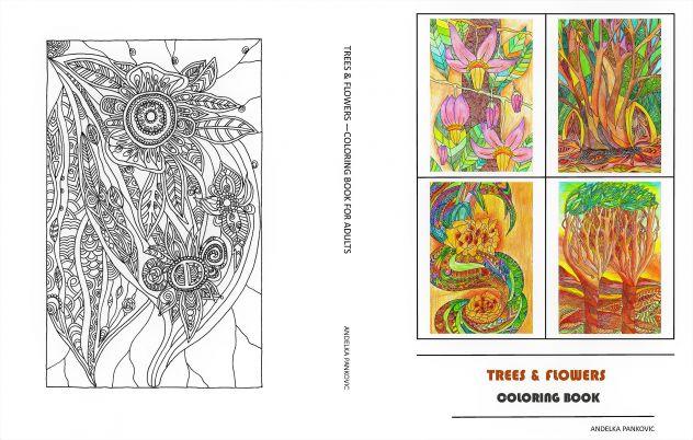 Trees & Flowers Libro da colorare per adulti-antistress-relax - Foto 3