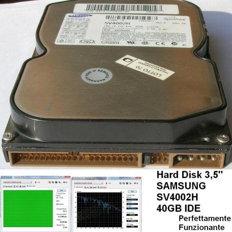 Hard Disk SAMSUNG SV4002H 40GB IDE 3,5''  TESTATO Funzionante - Foto 2