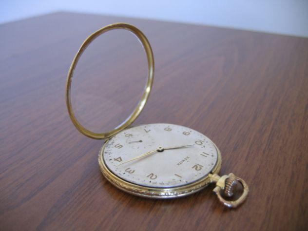 Orologio da Tasca Taschino Cipolla ZENITH Oro 18 K - Primi '900 - Foto 6