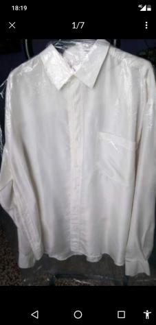 Camicia di seta da uomo xl