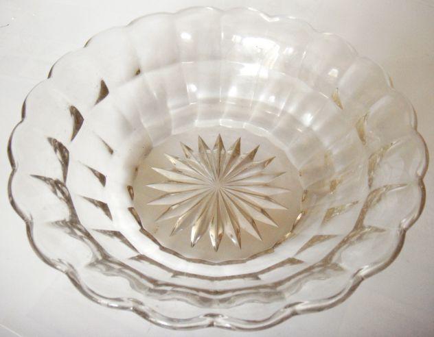 Ciotola Centro tavola ?-cristallo boemia-1950 ca-