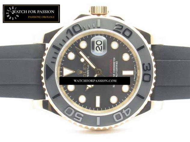 REPLICA ROLEX YACHT-MASTER 116655 BEST EDITION QUADRANTE IN CERAMICA ON SU  … - Foto 3