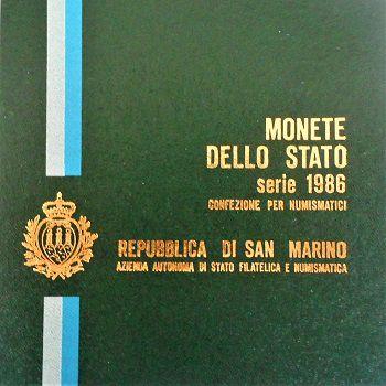 Rep. Di San Marino-Monete Dello Stato-Monetazione ordinaria 1986