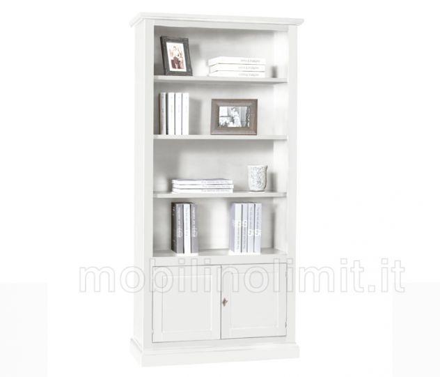 Libreria Arte Povera 2 ante - Bianco Opaco