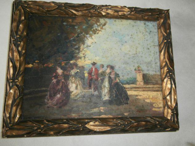 Vecchio quadro Cortigiane in Cortile
