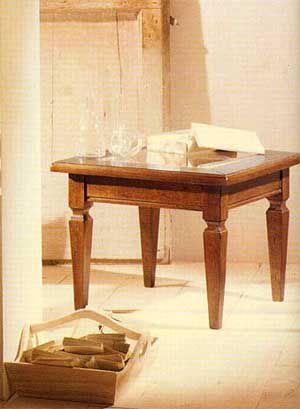 Tavolino da salotto quadrato con vetro arte povera cod 10943