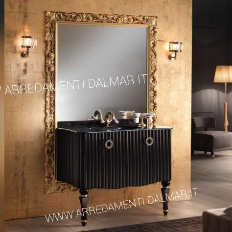 Mobile Bagno Moderno Nero Lucido Foglia Oro Annunci Verona