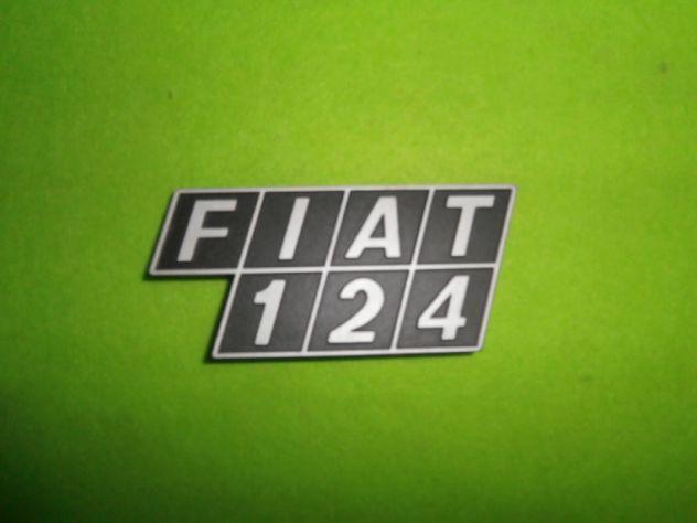 Scritta logo targhetta posteriore Fiat 124 berlina logo posteriore NUOVO