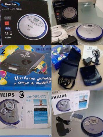 Lettore Cd Mp3 portatili Revotec Bellini e Philips