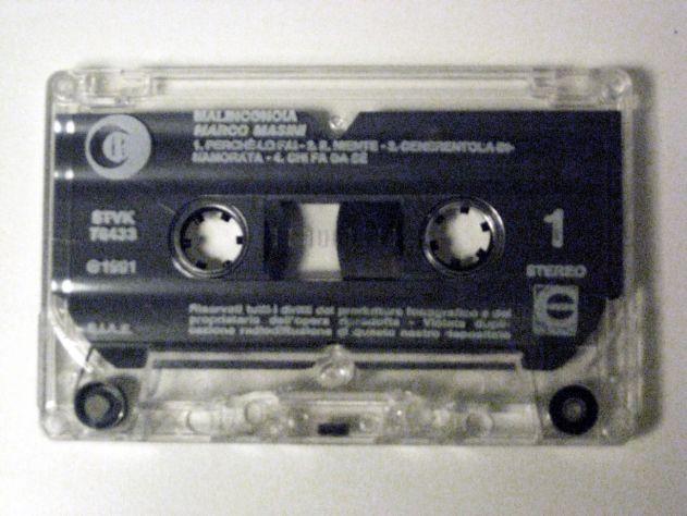 Musicassetta originale del 1991-Marco Masini-MALINCONOIA - Foto 2