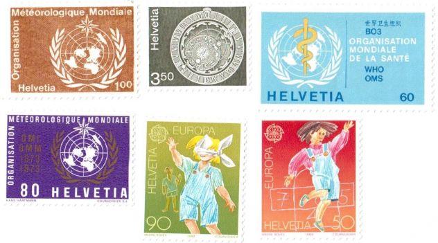 Francobolli da collezione Svizzera