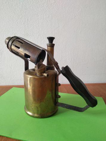 Cannello fiamma ossidrica antico in ottone