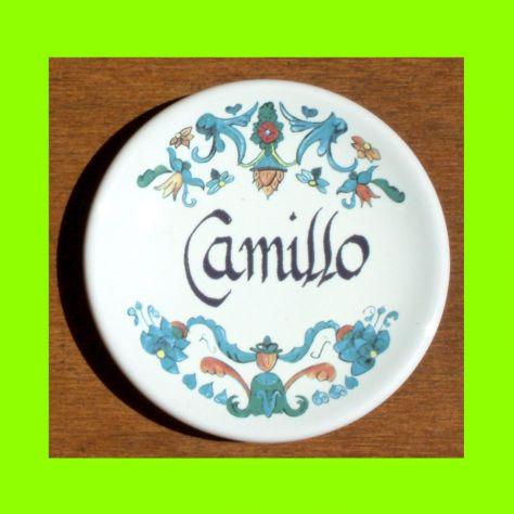 Piattino in ceramica personalizzato con nome Camillo