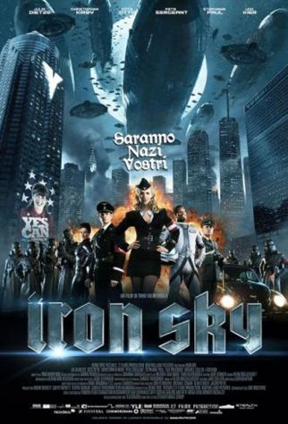 IRON SKY - POSTER-MANIFESTO CINEMA ORIGINALE cm.189x129,5