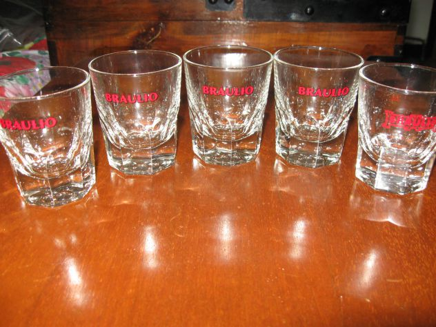 5 bicchierini dell'amaro BRAULIO