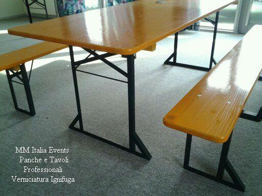 100 set panche e tavoli pieghevoli professionali per sagre noleggio - Foto 8
