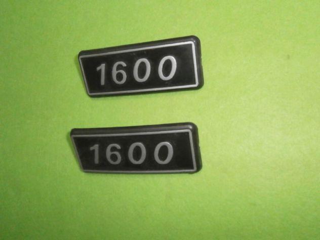 Scritte loghi targhette posteriori Fiat 131 1600  NUOVE - Foto 2