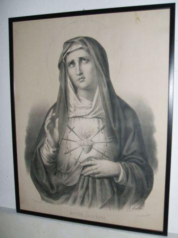 Antica litografia a soggetto sacro
